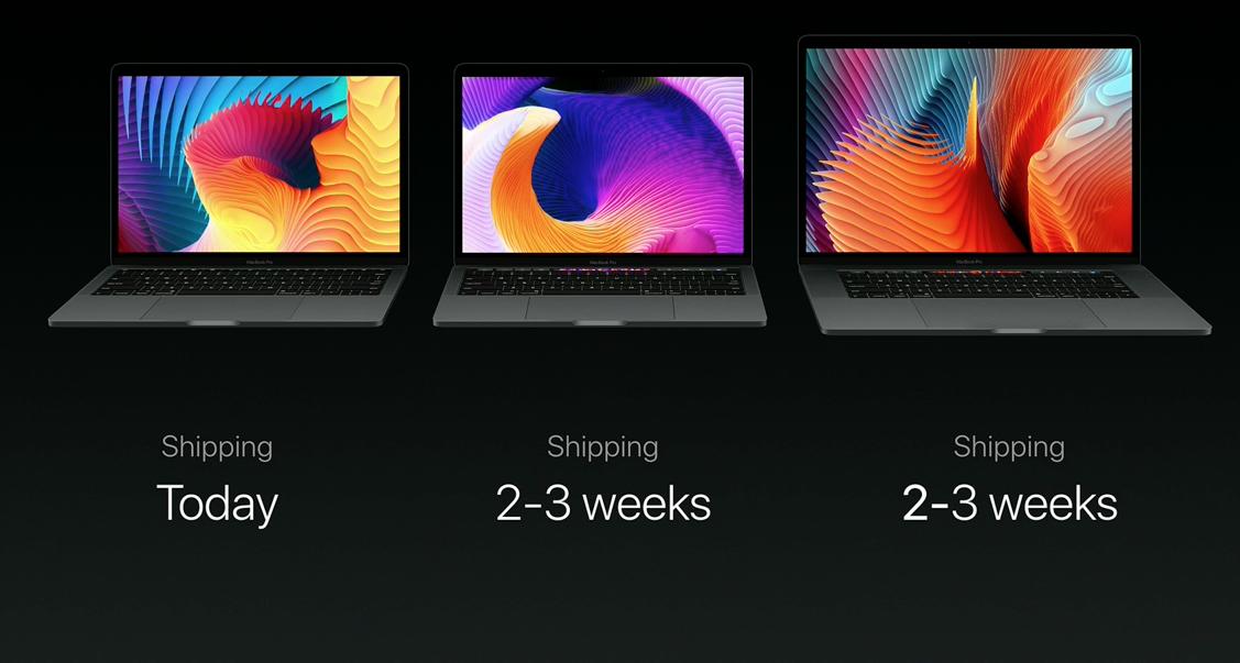 Apple MacBook lineup 2016