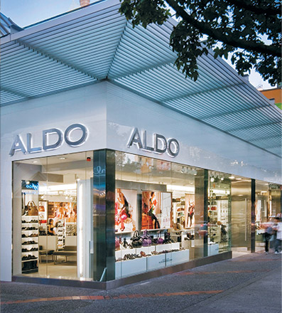 Aldo wants its customers ecommerce experience to continue in the bricks-and-mortar store.