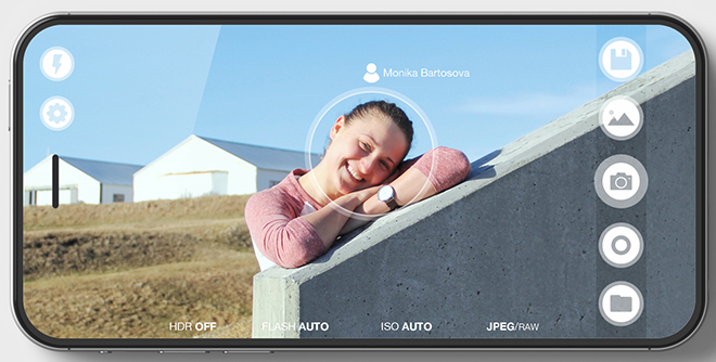 Edge-free iPhone concept from Czech designer Marek Weidlich.