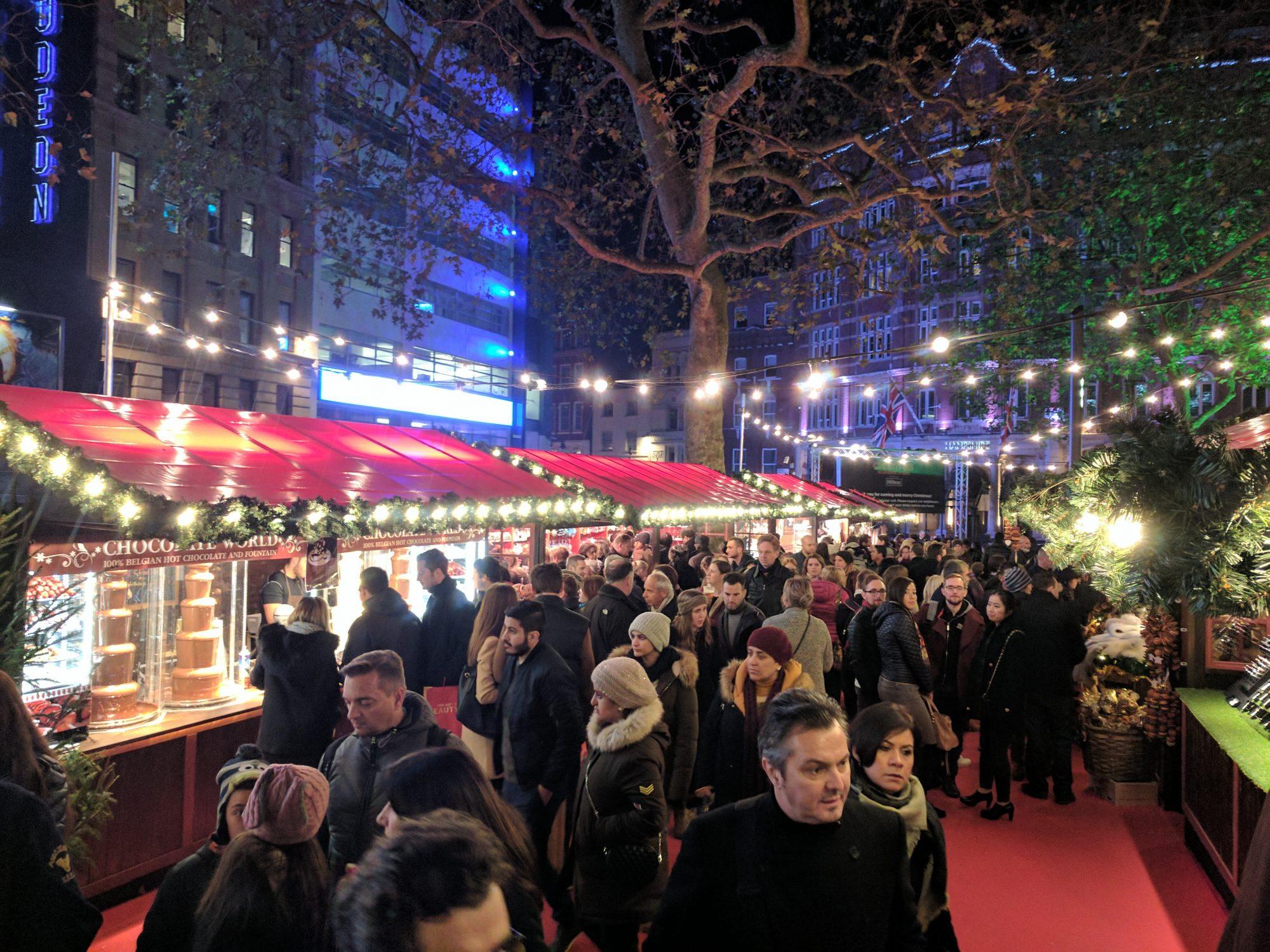 London Christmas market - Google Pixel camera