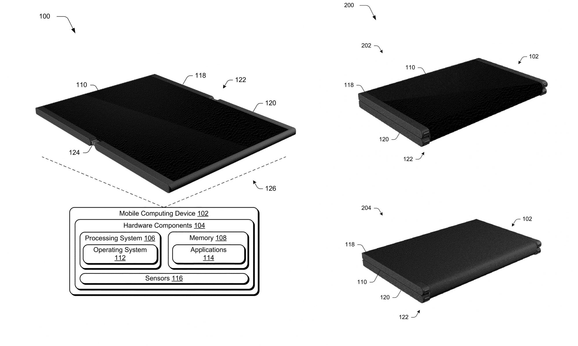 Microsoft patents a foldable phone-to-tablet device