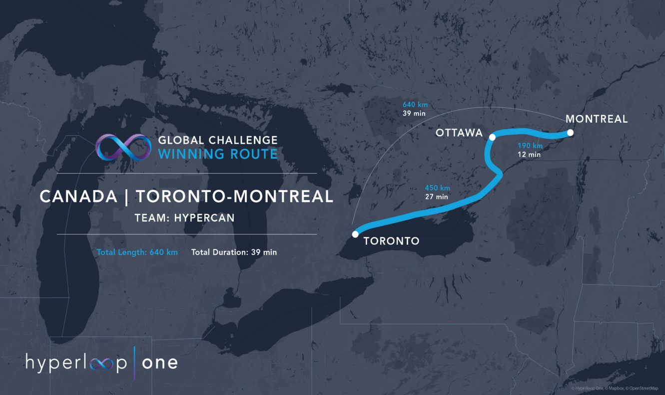 Canada could be getting a TorontoMontreal Hyperloop route IT