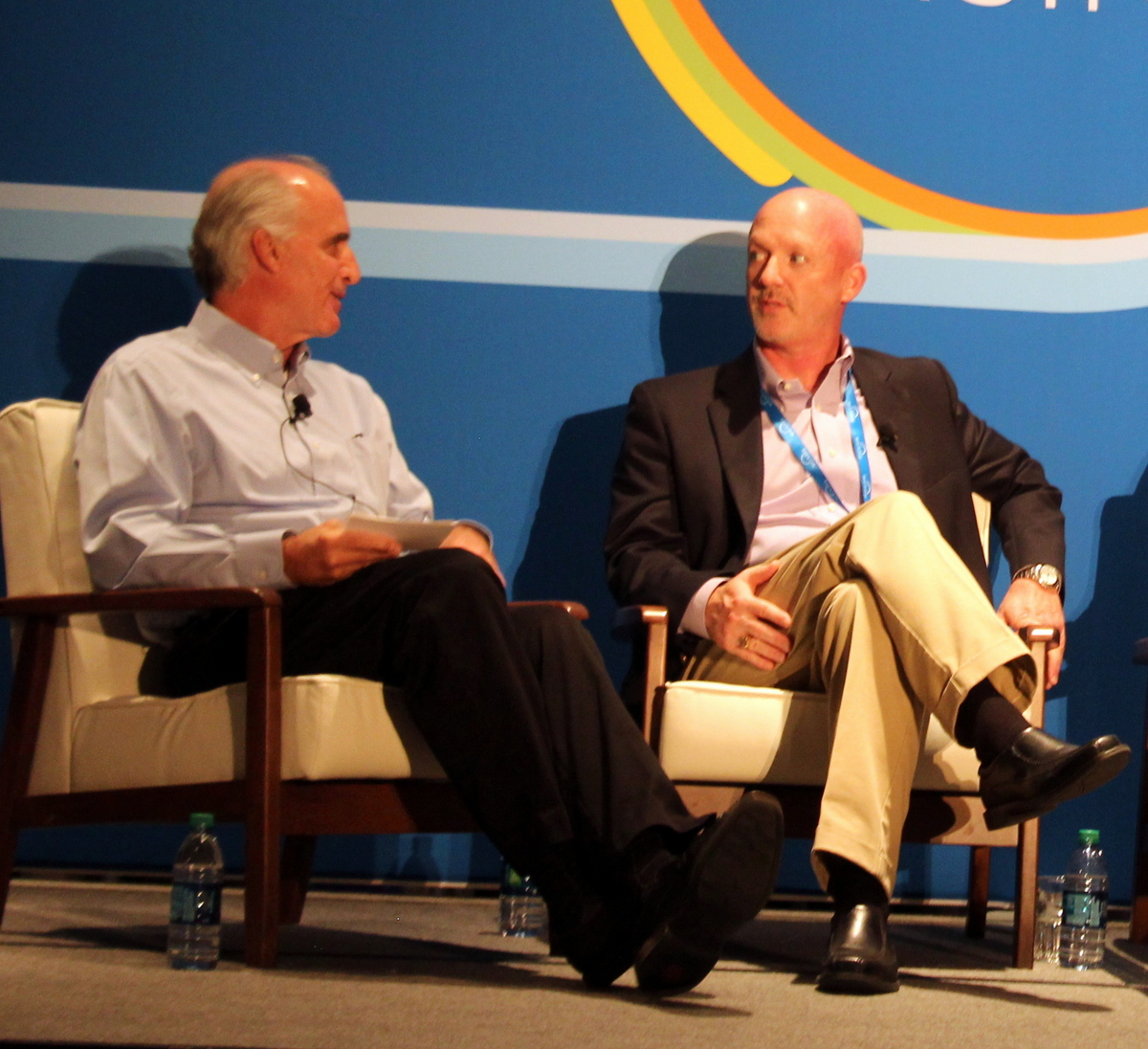 Denny's Chief Accounting Officer Jay Gilmore (right)