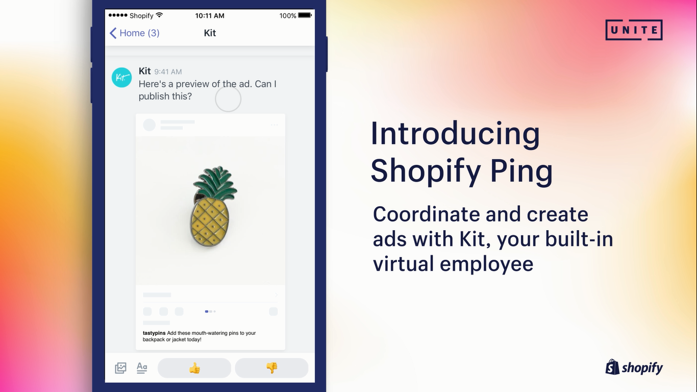 Shopify streamlining retail marketing and admin with Ping