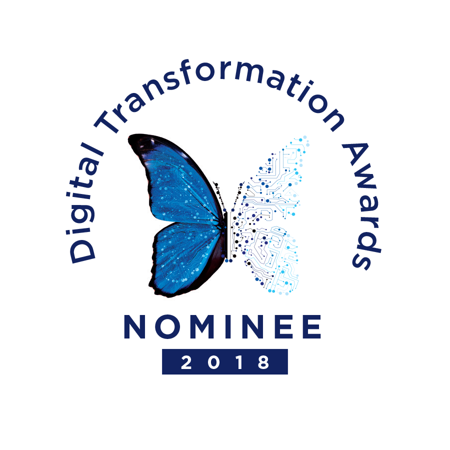 Digital Transformation Awards 2018 - nominee badge