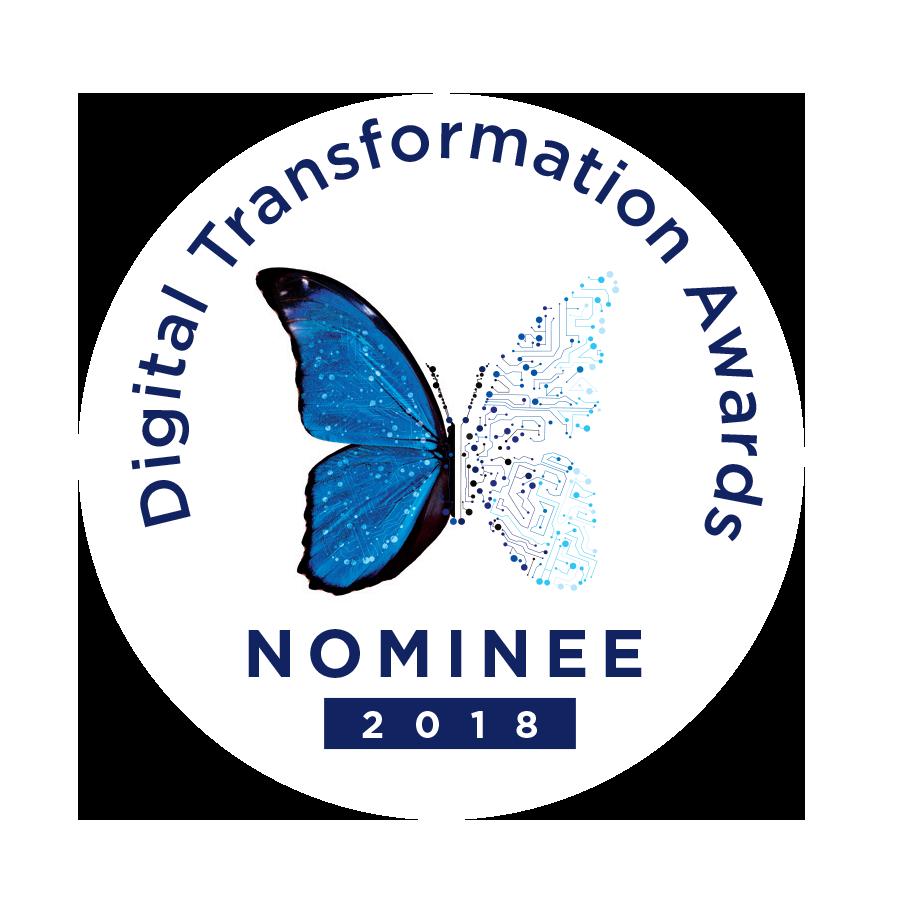 Digital Transformation Awards 2018 - nominee badge
