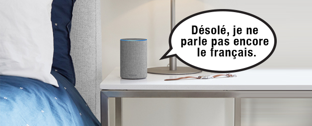 Alexa can't speak french - illustration by Mel Manasan