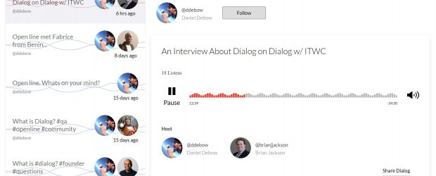 Dialog - Daniel Debow and Brian Jackson
