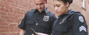 Security Guards using TrackTik on mobile