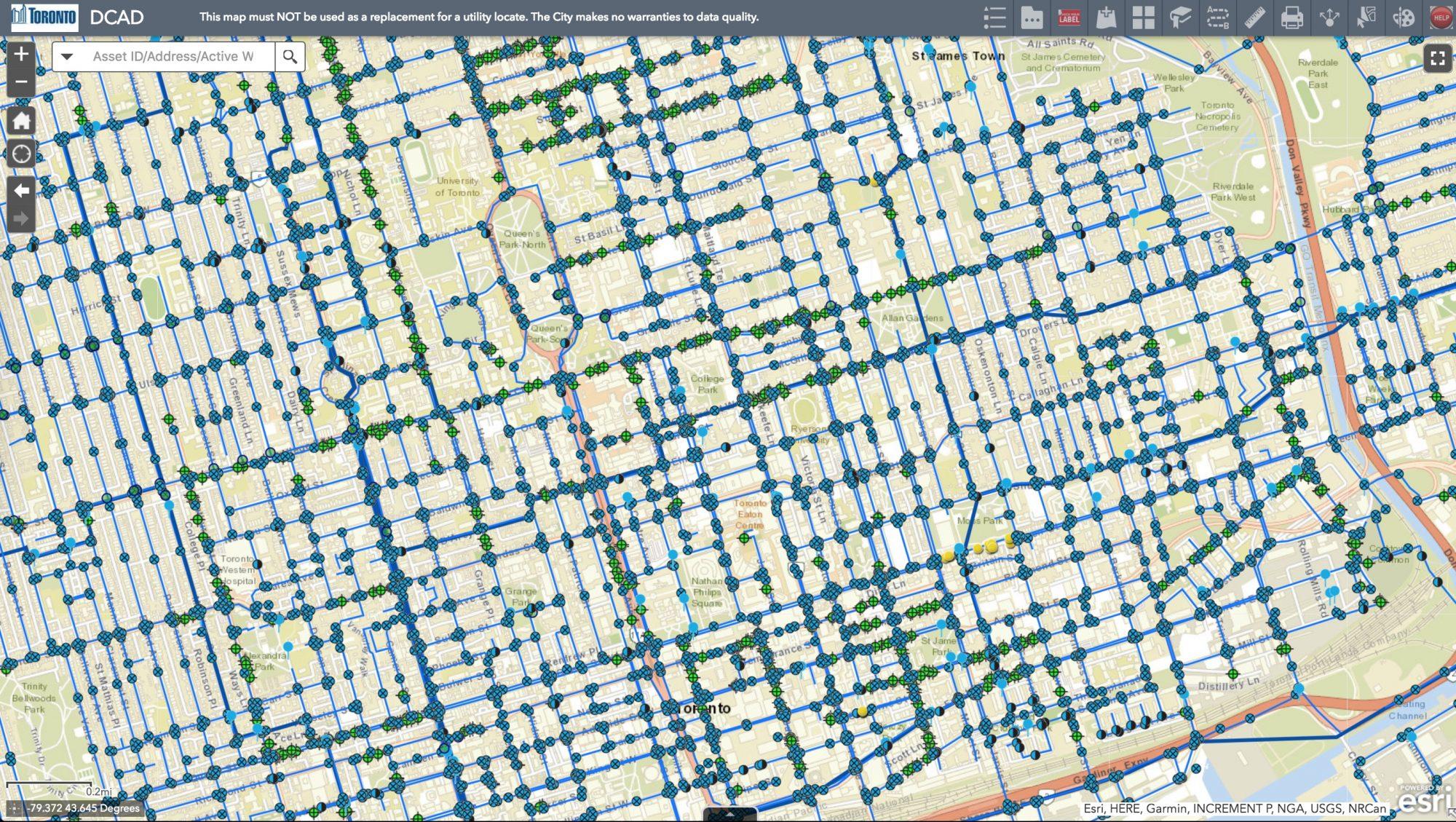 Toronto Water GIS - sensor grid system - Technicity