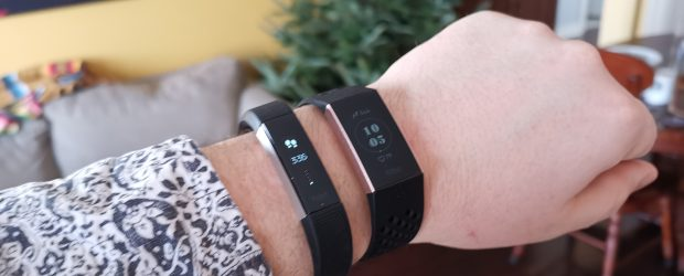 Fitbit Alta HR and Charge 3 whole arm