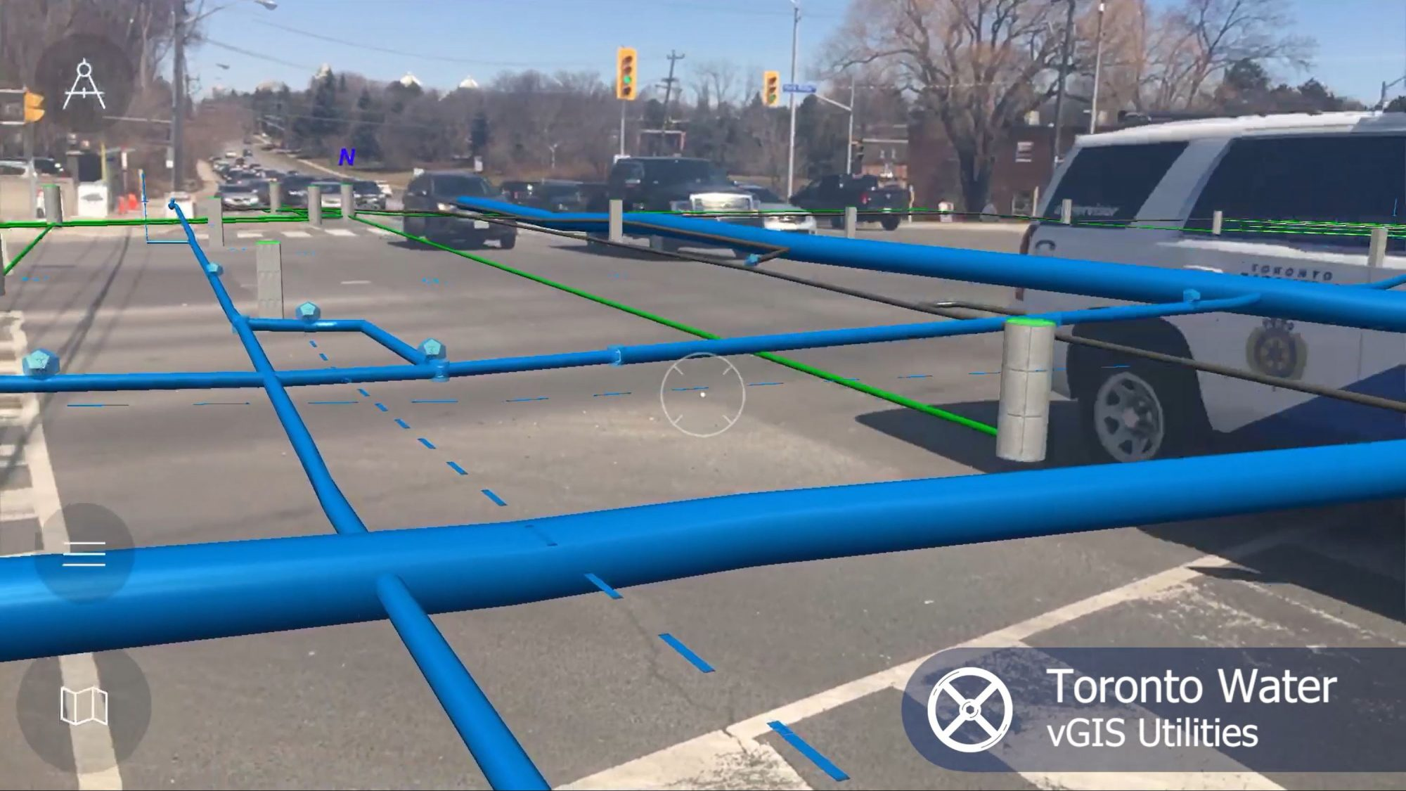 Toronto Water - vGIS augmented reality view