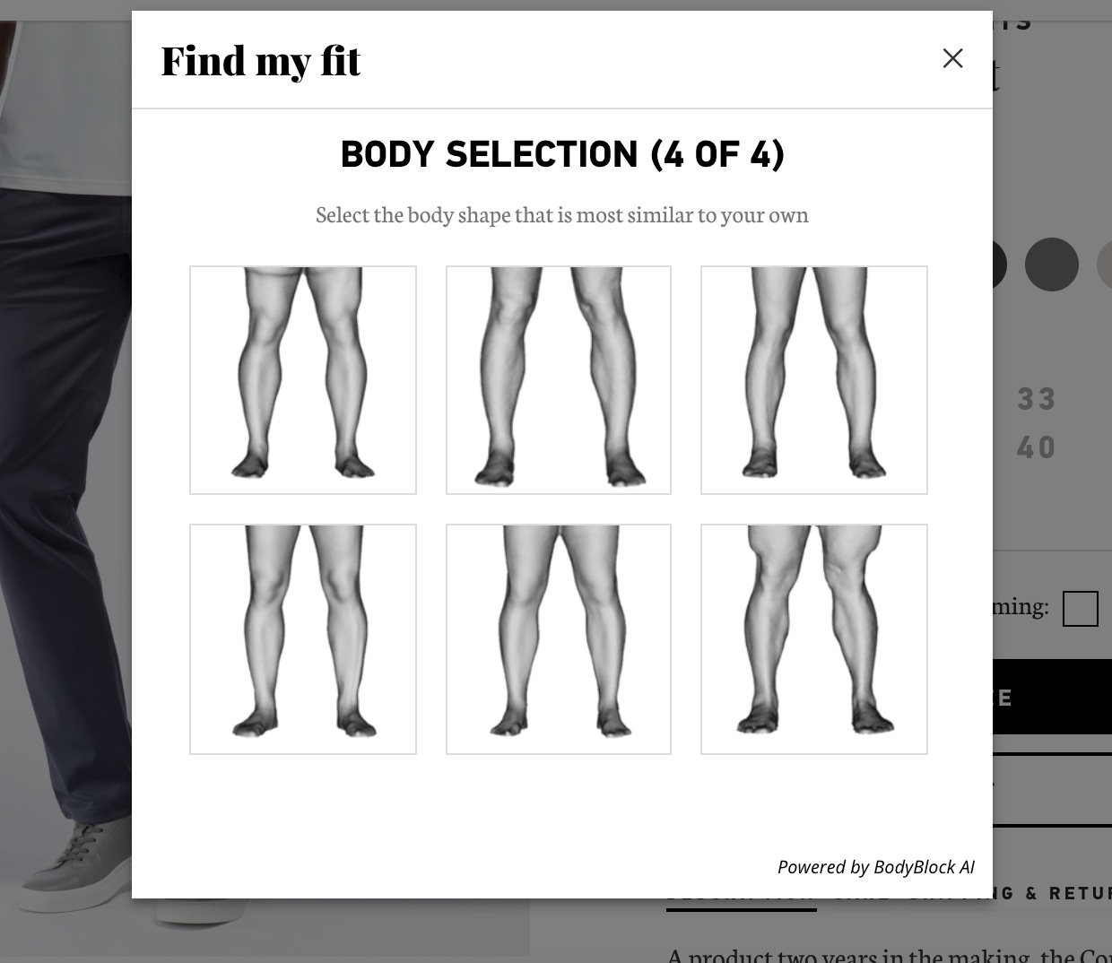 BodyBlock AI Find My Fit