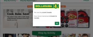 Dollarama Launches Online Store