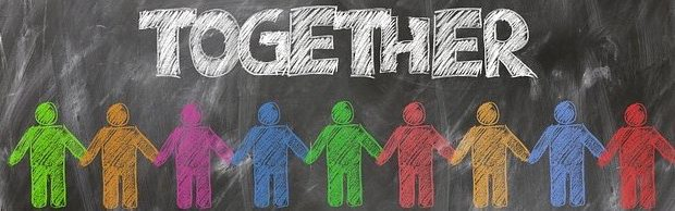 together - people of different colours