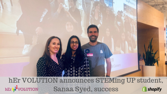 Sanaa Syed, STEMing UP student
