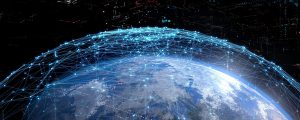 Photo depicting satellite internet network