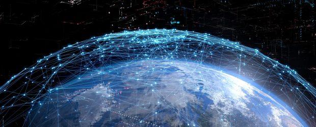 Photo depicting satellite internet network