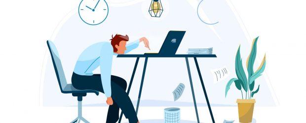 Photo depicting employee burnout